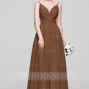 Dresses & Skirts - A line Princess V neck Floor Length Chiffon Dress